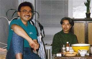 ニューヨークで再会した池田均君(左)と=平成元年