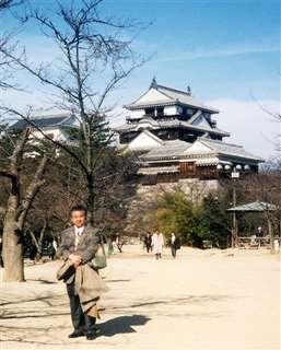 「BS俳句王国」出演の際、立ち寄った松山城で