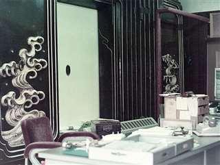 安藤商店の事務スペース=昭和40年ごろ