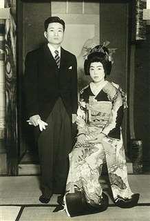 結婚式の記念写真=昭和33年