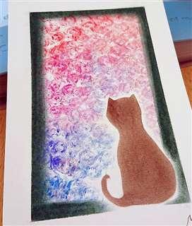 中学時代、絵が救いだったという由希子さん。今もずっと描き続けている