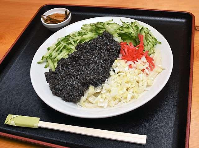 後藤チエ精肉店の「お肉屋さんのじゃじゃ麺」