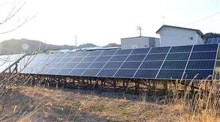 鹿角市十和田毛馬内に設置された太陽光発電施設。かづのパワーは、電力調達価格の変動リスクへの対応策として自前の発電施設を保有することを想定している