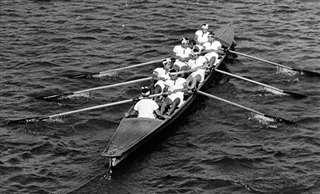 フィックスの乗艇練習=昭和33年ごろ、子吉川