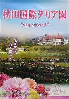 秋田国際ダリア園の現在のポスター
