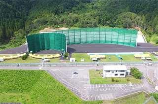県立総合射撃場内に整備された狩猟技術訓練施設(県提供)