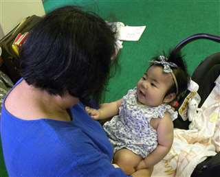 親子教室に来た生後3カ月の赤ちゃん