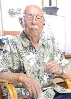 海軍軍属として訓練を受けていた当時のことを語る畠山さん