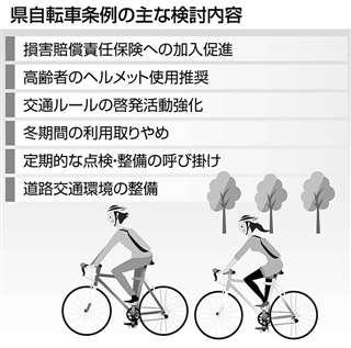 県自転車条例の主な検討内容