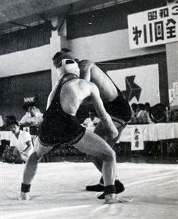 激しい技の掛け合い=昭和39年8月、兵庫でのインターハイ