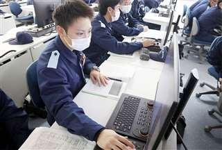 海上保安学校で授業を受ける佐々木さん=2021年1月(同校提供)