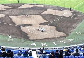 今月秋田市で行われた中央地区大会=こまちスタジアム